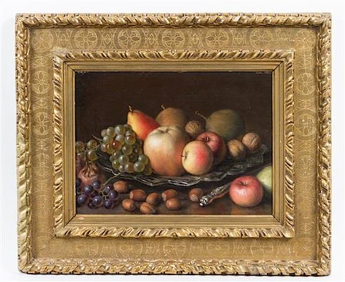 * Artist Unknown, (Continental, 19th century), Still Life with Fruit and Nuts