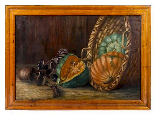 * Artist Unknown, (20th century), Still Life with Melons