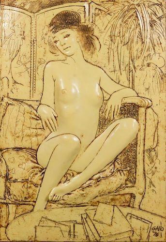 Frank Gallo, (American, b. 1933), Seated Nude, 1976
