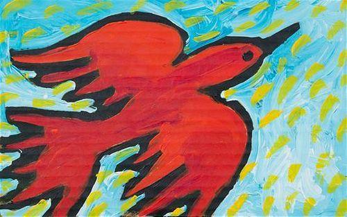 * Shannan Palmer, (Australian, 20th/21st century), The Red Bird Who Loves Flying in the Sun..., 1994