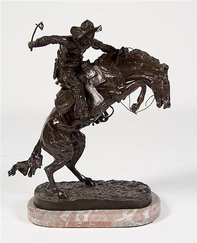 After Frederick Remington, (American, 1862-1909), Bronco Buster
