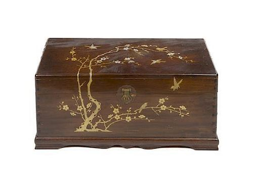 A Japanese Painted Trunk Height 13 x width 30 x depth 14 inches.