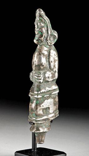 Parthian Silver Dagger Handle - Human Figure