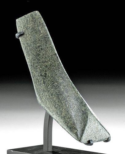 18th C. Tahitian Greenstone Adze Blade