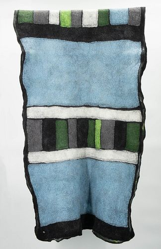 Sky Blue, Black, Gray and Green Color Blocks