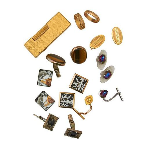 GENTLEMEN'S JEWELRY AND ACCESSORIES, INCLUDES GOLD