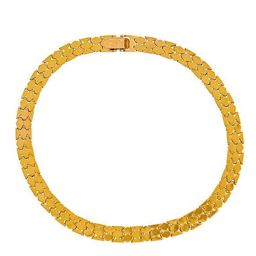14K YELLOW GOLD GEOMETRIC LINK NECKLACE