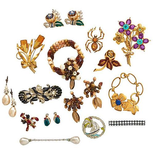 COLLECTION OF WHIMSICAL COSTUME JEWELRY