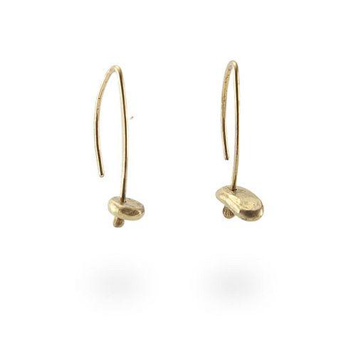 18k Nugget Drops Earrings