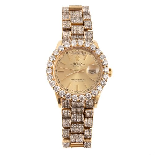 An Impressive 18K Presidential Diamond Rolex Watch