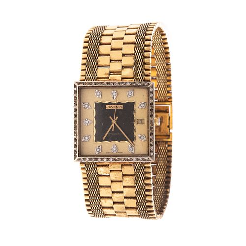 A Vintage Juvenia 18K Diamond Wrist Watch