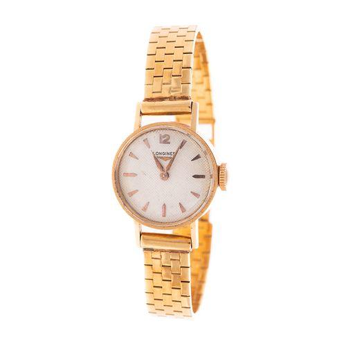 A 18K Italian Lady's Wrist Watch By Longines