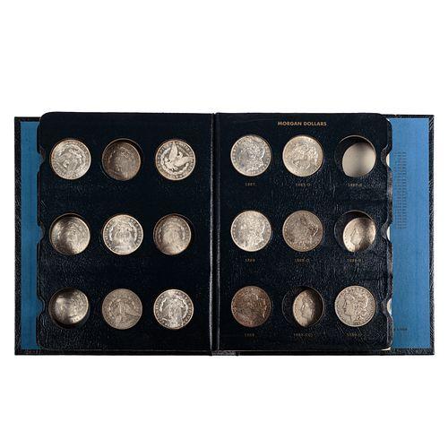 26 Silver Dollars 1878-1891 Whitman Album