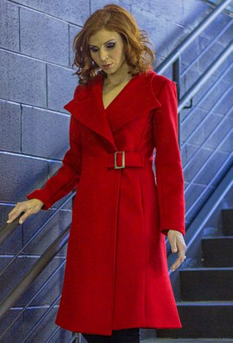 Coach Coat in Scarlet Cashmere, size 10