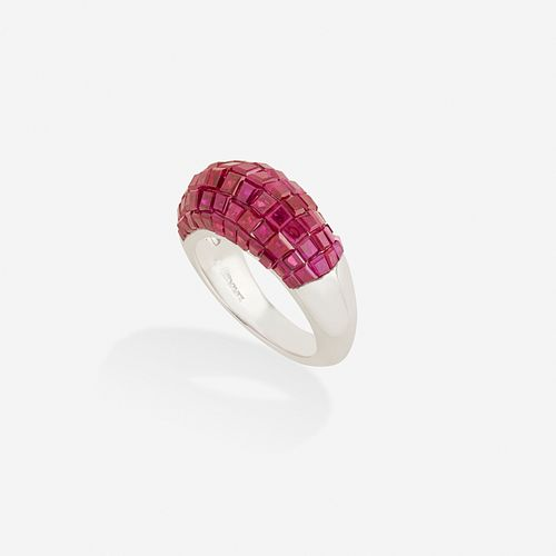 Oscar Heyman, Invisibly-set ruby ring