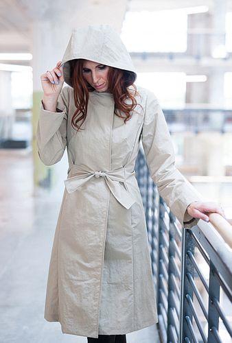 Coach Raincoat in Vanilla Japanese Nylon, size M