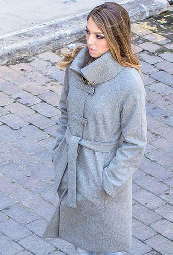 Raglan Crossbar in Gray Wool, size 10