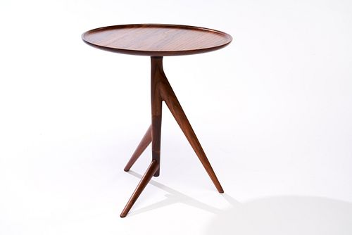 Twig Side Table in Walnut with Bowl Top