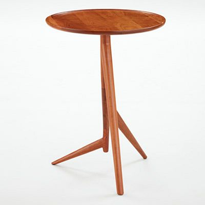 Twig Side Table in Cherry with Bowl Top