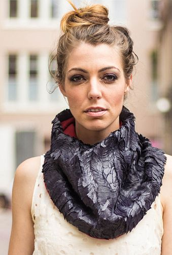 Raven Feather Fur Scarf