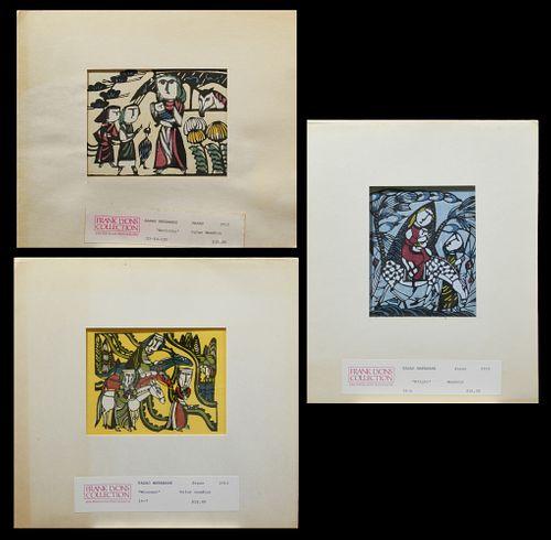Sadao Watanabe, 3 Woodblock Prints