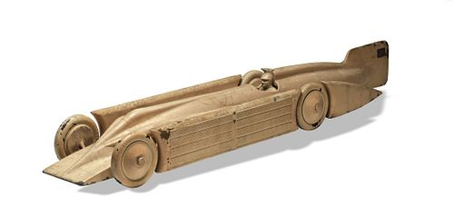 Large and Rare Cast Aluminum Golden Arrow Car
