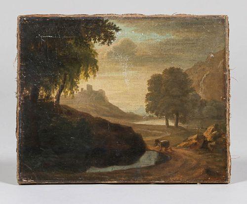 Antique Painitng of European Landscape c1900