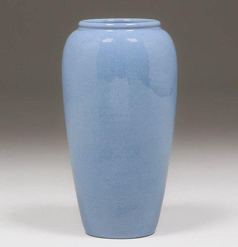Saturday Evening Girls Tall Blue Vase 1915