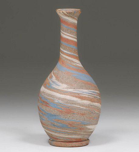 Evans Pottery - Dexter, MO Mission Swirl Vase c1930s