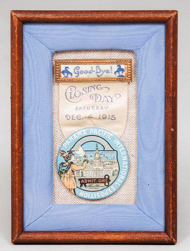 PPIE 1915 Closing Day Badge Dec 4, 1915