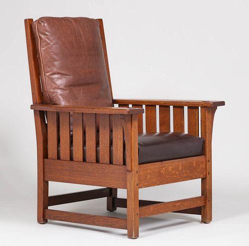 L&JG Stickley Slatted Armchair c1908-1912