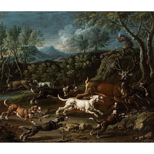 A Continental Hunting Scene