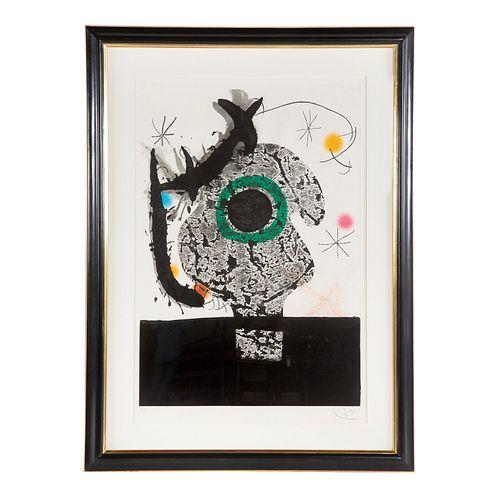 "Joan Miro. ""Polypheme,"" color aquatint"