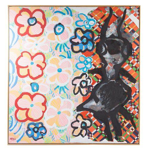 """Karel Appel. """"In Between the Flowers"""""""