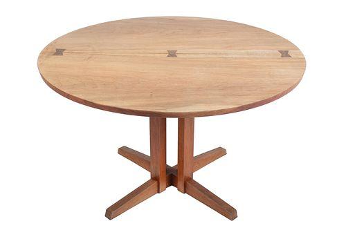 George Nakashima Round Cluster-Base Dining Table