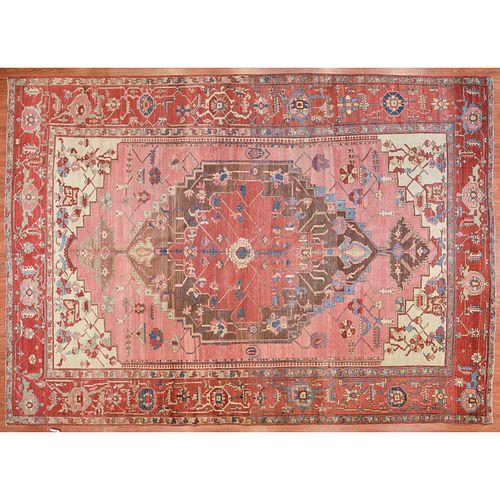 Rare Antique Serapi Carpet, Persia, 9.4 x 12.10