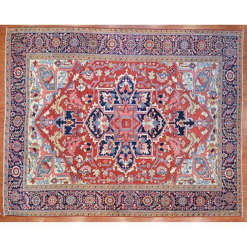 Antique Serapi Carpet, Persia, 9.8 x 12.2
