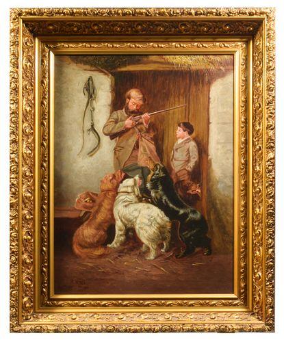 "Arthur Fitzwilliam Tait, Untitled ""Hunter and Boy"""