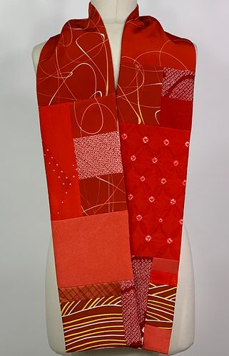 Bright Red and Orange Scarf