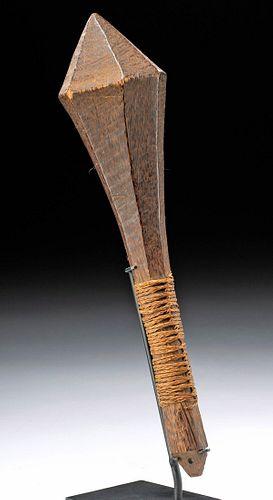 19th C. Polynesian Tongan Wood Hand Club