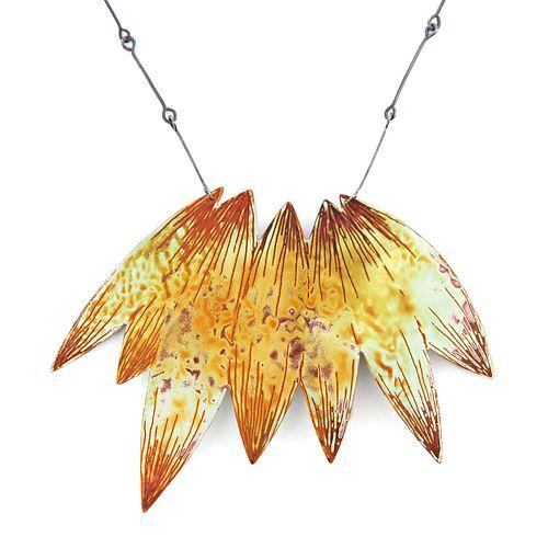 Petal Cluster Silhouette Necklace