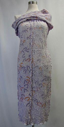 Shibori Purple Dress