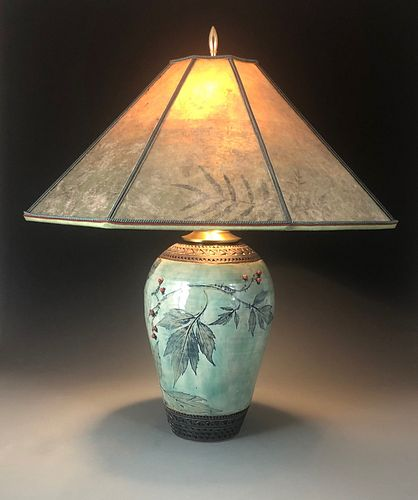 Virginia Waterleaf Lamp in Celadon