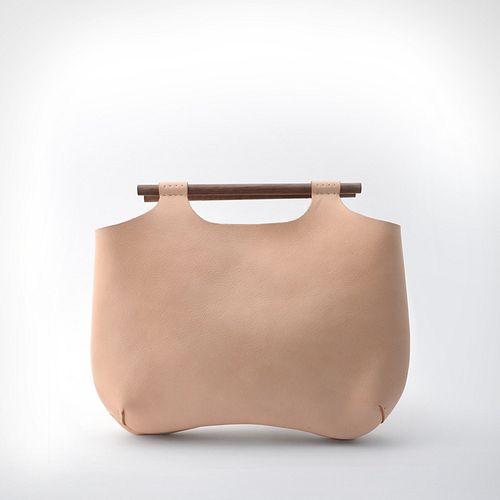 Walnut Handle Basket Bag
