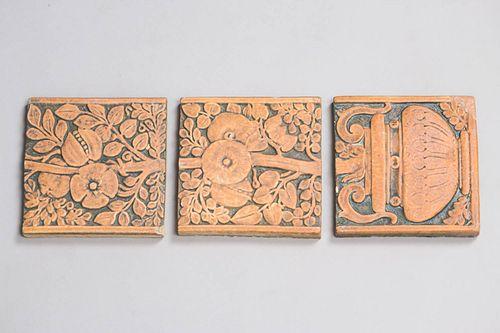 Richmond Cal Art 3 Tile Set c1920s