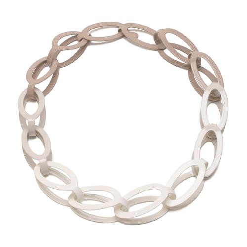 14pc Oval Chain in ballet grey gradient