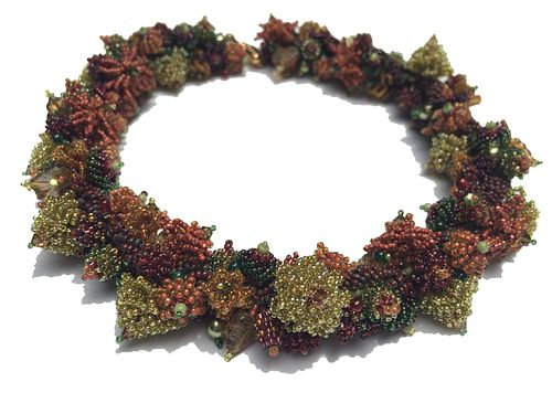 Autumnal Coral Reef Necklace