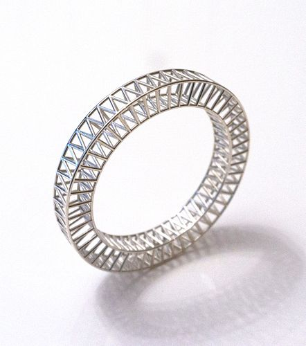 Silver Structure Bangle