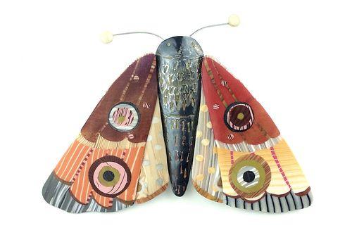 Orange Moth Pin