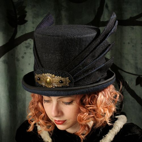 Dragon Wing Top Hat - Black